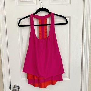 Pink sleeveless tank top blouse